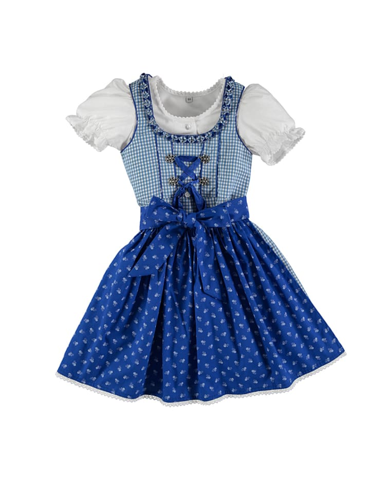 lekra dirndl mit bluse juliana in hellblau grau dunkelblau. Black Bedroom Furniture Sets. Home Design Ideas