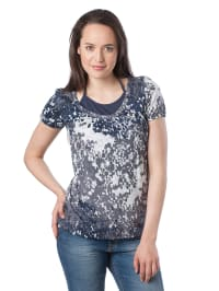 Mexx Shirt in Dunkelblau/ Creme