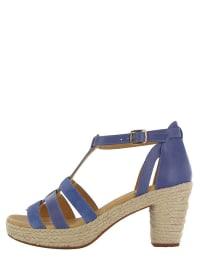 "Flip Flop Leder-Sandaletten ""Coconut"" in Blau/ Beige"