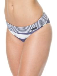 Marc O'Polo Bikinislip in Blau/ Weiß