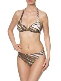Naturana Bikini in Oliv/ Weiß