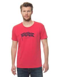 """Herrlicher T-Shirt """"Base"""" in rot"""
