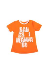 "667 T-Shirt ""Bad As I Wanna Be"" in orange/ weiß"