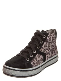 Gabor Kids Hohe Veloursledersneaker im Animal-Look in braun/ schwarz