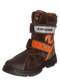 "Naturino Winterstiefel ""Feruc"" in Braun/ Orange"