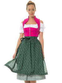 Berwin und Wolff Midi-Dirndl in pink/ grün