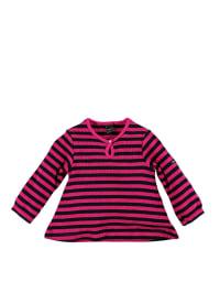 Moonkids Kleid in Schwarz/ Pink