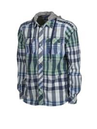 Chiemsee Hemd in Grau/ Blau/ Grün