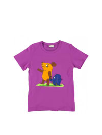 """Die Maus Shirt """"Hand in Hand"""" in lila"""