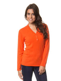 Bluhmod Kaschmir-Pullover in Orange