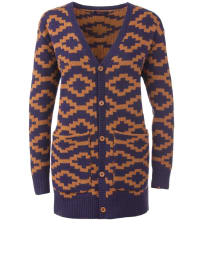 "Flip Flop Cardigan ""Gaucho"" in Orange/ Lila"