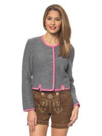 Kitz-pichler Woll-Janker in grau/ rosa