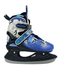 "Powerslide Schlittschuhe ""Hotwheels Ice-Skate Hot Rod"" in schwarz/ blau"