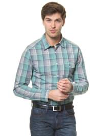 Mexx Hemd in Grün/ Blau/ Weiß