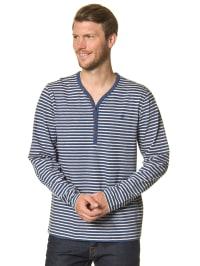 Marc O'Polo Longsleeve in blau/ weiß