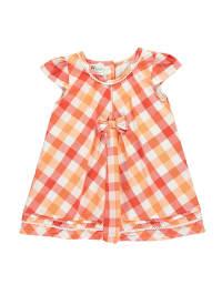 Gelati Kleid in Orange/ Weiß