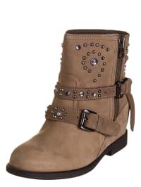 "Geox Leder-Boots ""Devil"" in beige"