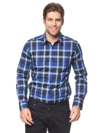 Tom Tailor Hemd in Blau/ Schwarz/ Grau