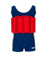 """Beverly Kids Schwimmanzug """"Marbella Club"""" mit Schwimmhilfe in Blau/ Rot"""