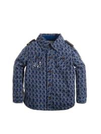 Noppies Hemd in Grau/ Blau