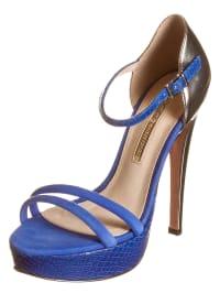 Buffalo High-Heels in blau/ silber