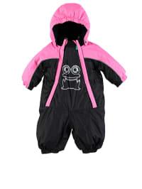 Green Cotton Schneeanzug in schwarz/ pink
