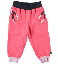 Green Cotton Stoffhose in Pink