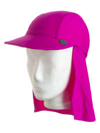 Green Cotton Cap in Pink