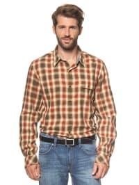 Timberland Hemd in khaki/ rostrot
