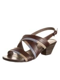 Marco Tozzi Leder-Sandaletten in braun