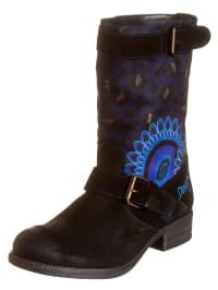 """Desigual Boots """"Biker Two"""" in Schwarz/ Blau"""