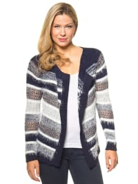 "Vero Moda Cardigan ""Mildred"" in Blau/ Weiß/ Grau"