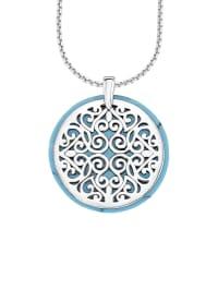 S. Oliver Silber-Halskette mit Anhänger - (L)45 cm