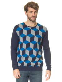 Mexx Pullover in Blau/ Grau