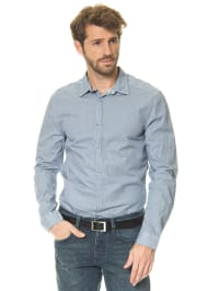 Mexx Hemd in Blau/ Weiß