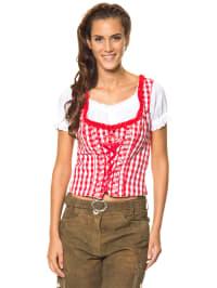 "LEKRA Miederbluse ""Laureen"" in rot/ weiß"