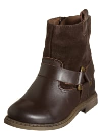 Billowy Leder-Stiefel in dunkelbraun