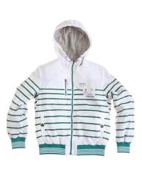 Geox Jacke in Weiß/ Grün