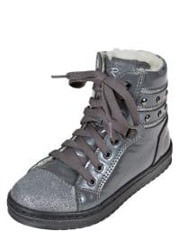 Romagnoli Leder-Sneakers in silber/ grau