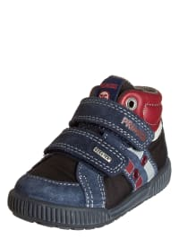 Primigi Leder-Sneakers in blau/ schwarz/ rot