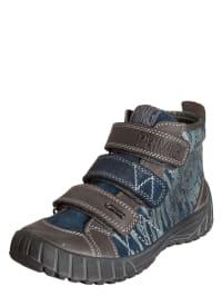 Primigi Leder-Sneakers in Graublau/ Taupe
