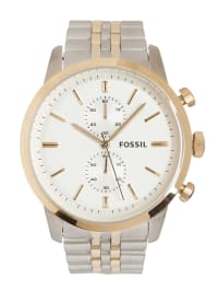 """Fossil Chronograph """"Townsman"""" in silber/ gold/ weiß"""