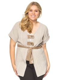 Coleen Bow Cardigan in beige