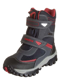 """Geox Winterboots """"Himalaya"""" in grau/ dunkelblau/ rot"""