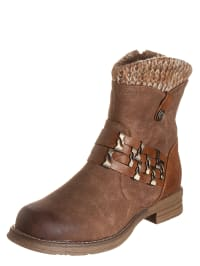 Marco Tozzi Boots in Hellbraun
