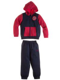 Puma Trainingsanzug in Blau/ Rot