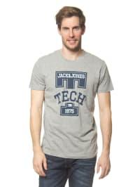 Jack & Jones Shirt in Grau/ Dunkelblau