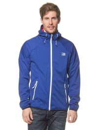 Jack & Jones Softshelljacke in Blau/ Rot