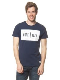 Jack & Jones Shirt in Dunkelblau/ Weiß