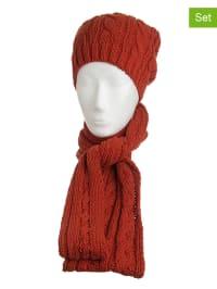 Döll 2tlg. Set: Mütze und Schal in Terrakotta